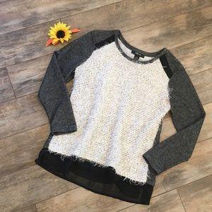 Style & Co fuzzy light sweater